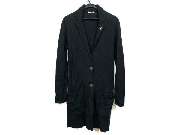 lardini(ラルディーニ) ジャケット サイズ38 M レディース 黒 ロング丈