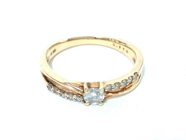 ノーブランド リング美品  K18×ダイヤモンド 総重量:2.7g/0.150刻印