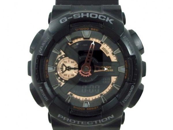 CASIO(カシオ) 腕時計 G-SHOCK GA-110RG メンズ 黒×ブロンズ