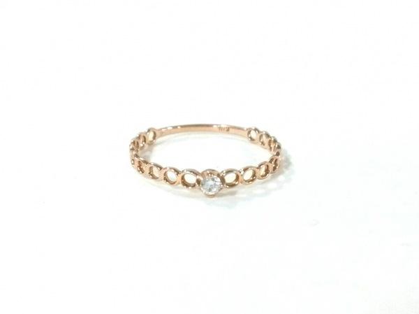 ノーブランド リング K18×ダイヤモンド 総重量:0.7g/0.04刻印