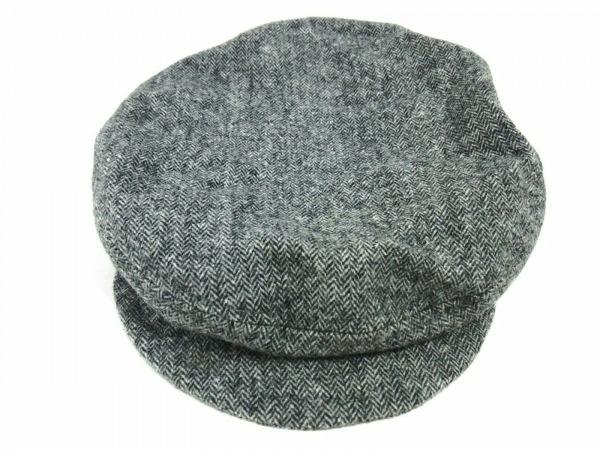 agnes b(アニエスベー) 帽子 58美品  グレー キャスケット ウール×ナイロン