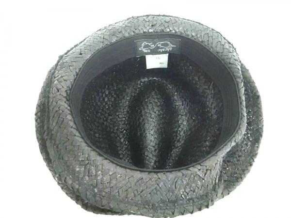 ahcahcum(アチャチュム) ハット 36 ダークブラウン×黒 天然繊維 4