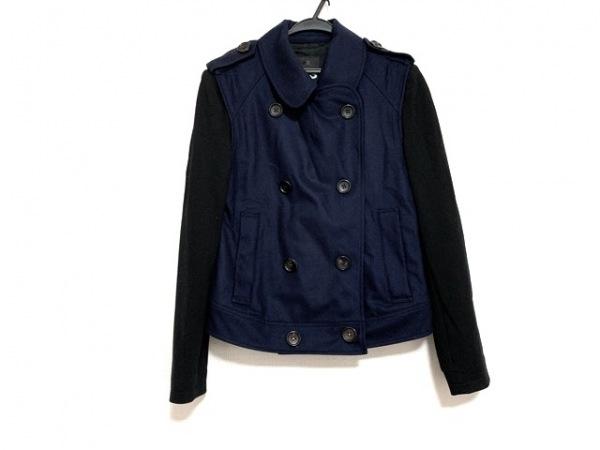 Y-3(ワイスリー) Pコート サイズS メンズ美品  ネイビー×黒 adidas/春・秋物