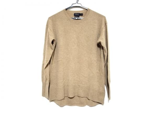 ポロラルフローレン 長袖セーター サイズXS TP レディース美品  ライトブラウン