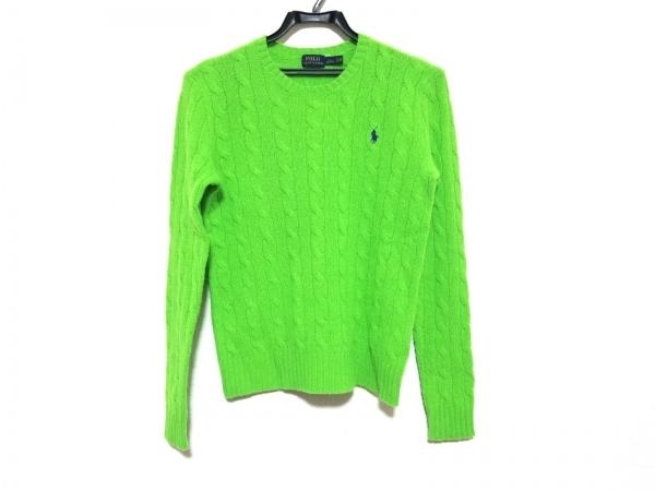 ポロラルフローレン 長袖セーター サイズS/160/84A レディース美品  ライトグリーン