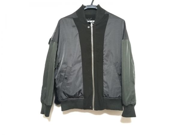 OKIRAKU(オキラク) ブルゾン サイズ0 XS レディース美品  黒×ダークグレー×カーキ