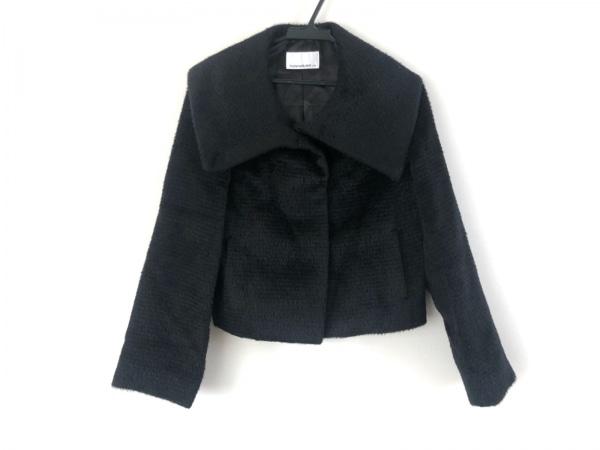 エムプルミエブラック コート サイズ34 S レディース美品  黒 冬物/ショート丈