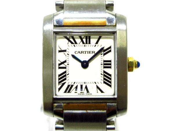 Cartier(カルティエ) 腕時計 タンクフランセーズSM W51007Q4 レディース SS×K18YG 白