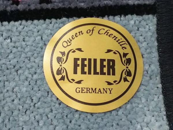 FEILER(フェイラー) ハンカチ新品同様  グレー×黒×マルチ 花柄 3