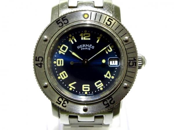 HERMES(エルメス) 腕時計 クリッパーダイバーズ CL5.210 レディース ネイビー