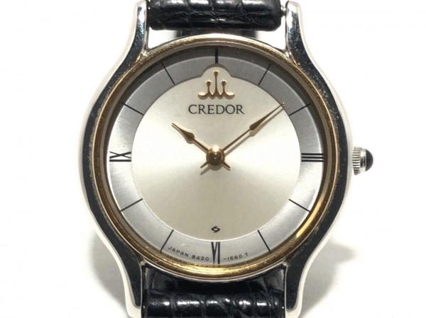 SEIKO CREDOR(セイコークレドール) 腕時計 8420-0150 レディース 18Kベゼル シルバー