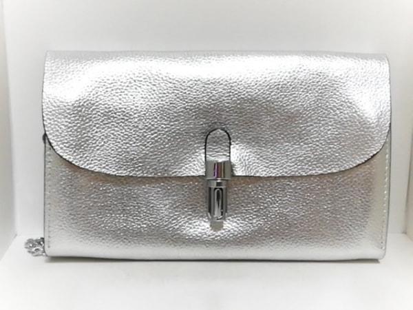 ROSEBUD(ローズバッド) 財布 シルバー チェーンショルダー/ウォレットバッグ レザー