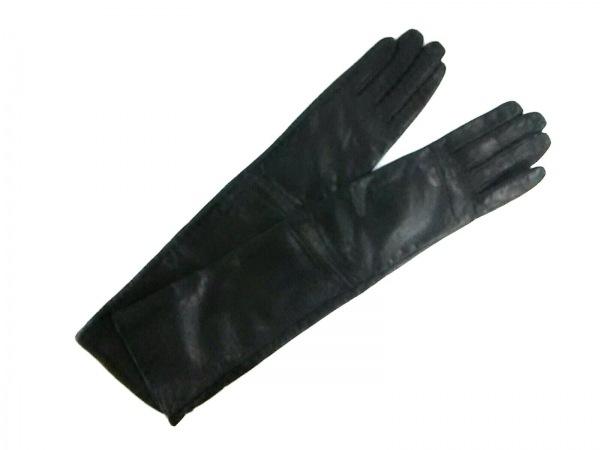 ENCHANTEMENT...?(アンシャントマン) 手袋 レディース美品  黒 ロング レザー
