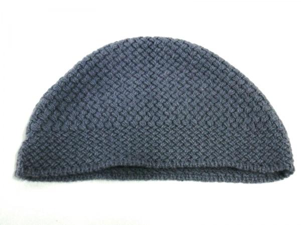 BOTTEGA VENETA(ボッテガヴェネタ) ニット帽美品  パープル ウール×カシミヤ
