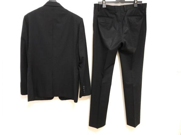 COMME CA MEN(コムサメン) シングルスーツ サイズ40 M メンズ 黒 ストライプ