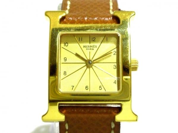 HERMES(エルメス) 腕時計 Hウォッチ HH1.201 レディース □A刻印 ゴールド