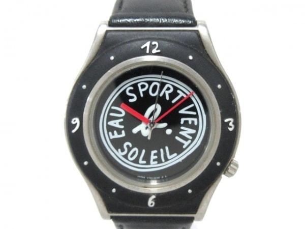 agnes b(アニエスベー) 腕時計 V721-6080 ボーイズ 黒