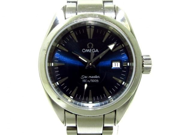 OMEGA(オメガ) 腕時計 シーマスターアクアテラ 2577.80 レディース SS ネイビー
