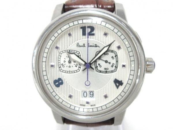 ポールスミス 腕時計 YA40-S050804 メンズ クロノグラフ/革ベルト シルバー