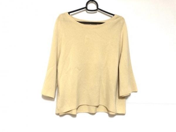 自由区/jiyuku(ジユウク) 七分袖セーター サイズ38 M レディース イエロー