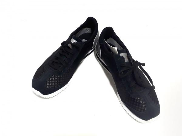 アシックス・オニツカタイガー スニーカー 25.5 メンズ美品  黒×ライトグレー