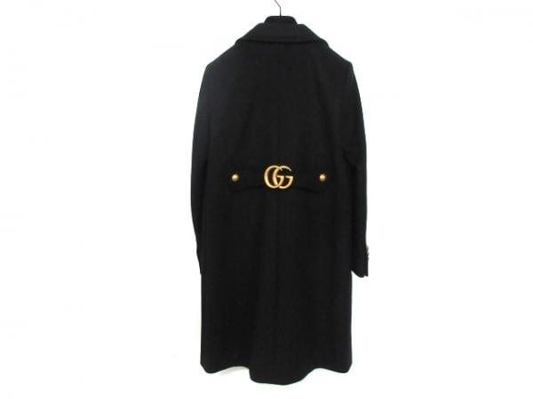 GUCCI(グッチ) コート サイズ36 S レディース美品  ダブルG 494500 黒 冬物