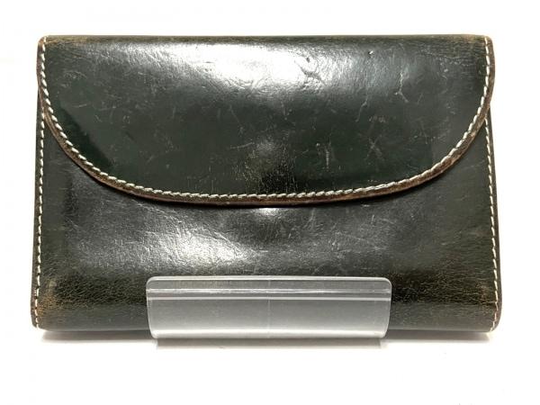 WhitehouseCox(ホワイトハウスコックス) 3つ折り財布 ダークグリーン レザー