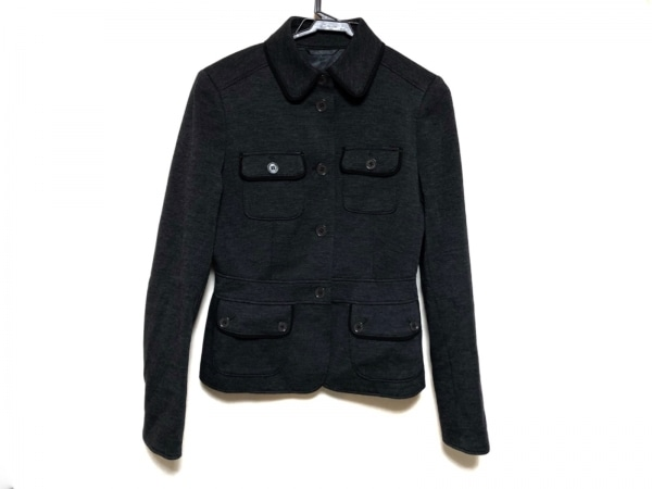 バーバリーロンドン ジャケット サイズ38 L レディース美品  ダークグレー×黒