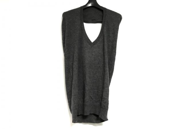 ダーマコレクション セーター サイズL レディース美品  ダークグレー ニット
