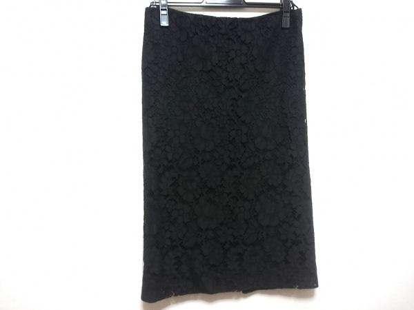PRADA(プラダ) スカート サイズ40 M レディース 黒 レース
