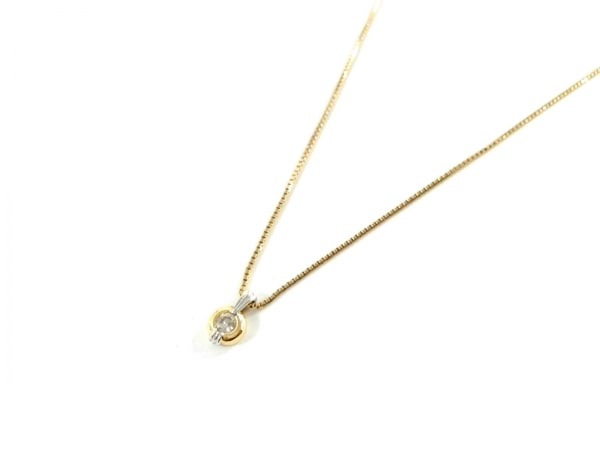 ノーブランド ネックレス美品  K18×ダイヤモンド 総重量:2.9g