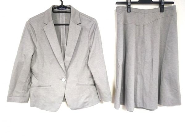 ニューヨーカー スカートスーツ サイズ13AR M レディース美品  グレー×ライトグレー