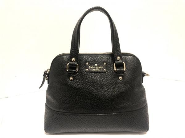 Kate spade(ケイトスペード) ハンドバッグ美品  黒 型押し加工 レザー