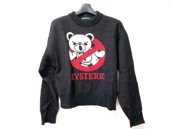 ヒステリックグラマー 長袖セーター サイズF レディース 黒×白×レッド