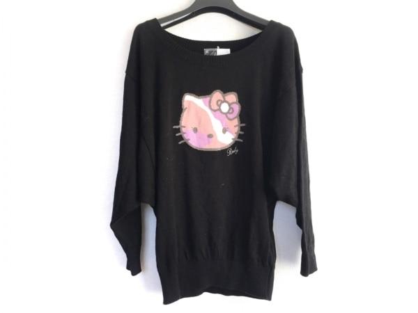 Rady(レディ) 長袖セーター サイズF レディース 黒×マルチ キティモチーフ