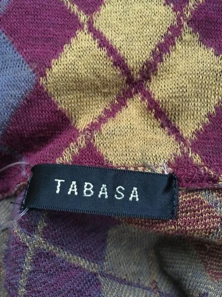 TABASA(タバサ) チュニック レディース ボルドー×ライトブラウン×ダークグレー