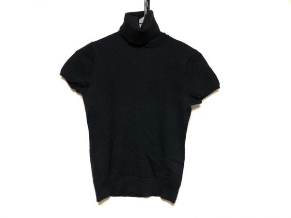 ラルフローレン 半袖セーター サイズM レディース美品  黒 タートルネック