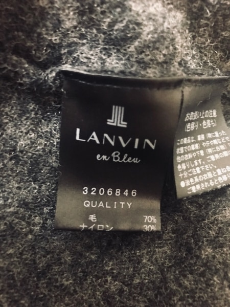 ランバンオンブルー セーター サイズ38 M レディース ダークグレー×黒
