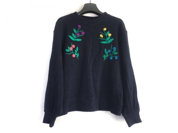 ミュベール 長袖セーター サイズ36 S レディース ダークネイビー×グリーン×マルチ