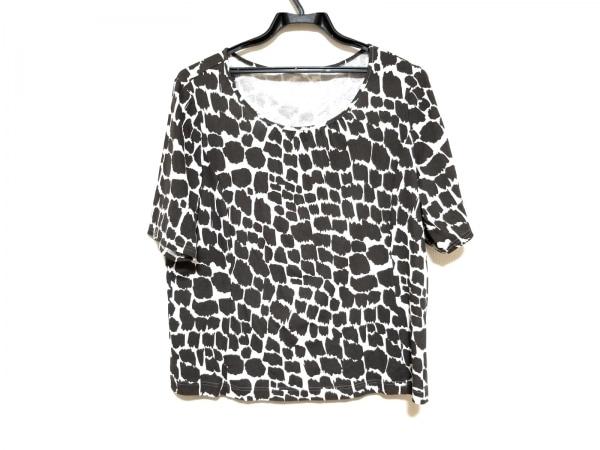 Leilian(レリアン) 半袖カットソー サイズ15+ L レディース美品  白×ダークブラウン