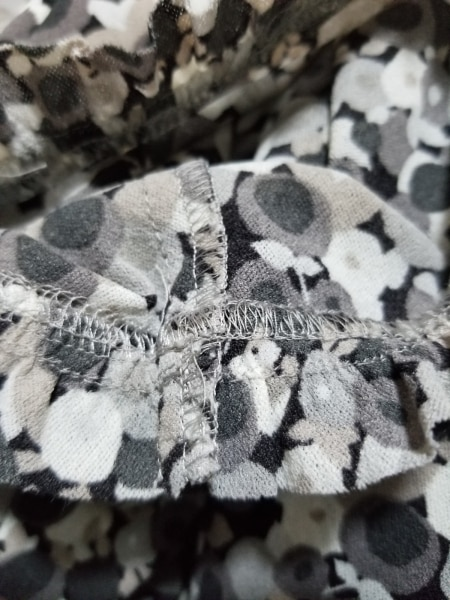 レリアン 半袖カットソー サイズ15+ L レディース美品  グレー×ダークグレー×白