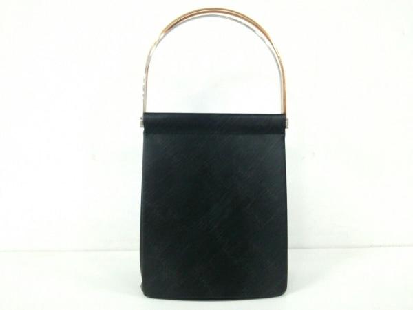 カルティエ ハンドバッグ美品  トリニティ 黒×スリーカラーゴールド イニシャル刻印
