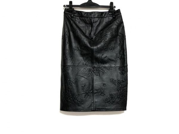 MOSCHINO(モスキーノ) スカート サイズ40 M レディース美品  黒 レザー