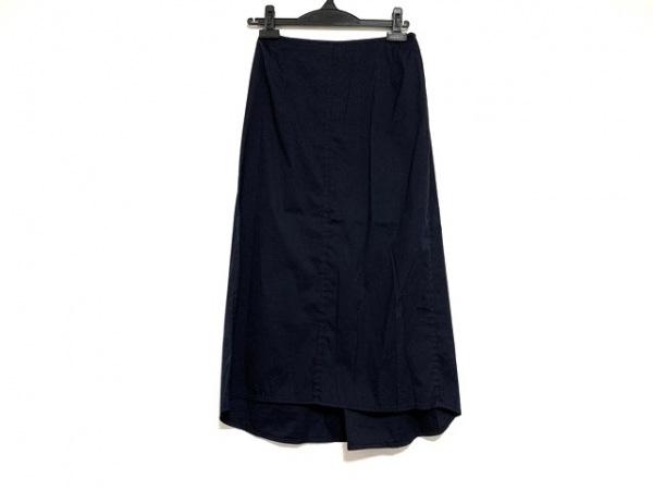 PRADA(プラダ) ロングスカート サイズ40 M レディース美品  ダークネイビー