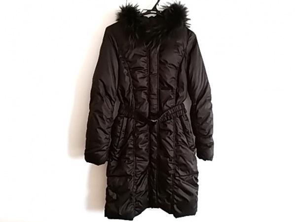 ルジュール ダウンコート サイズ38 M レディース美品  黒 ファー/ジップアップ/冬物