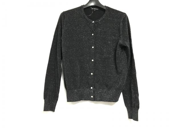 23区(ニジュウサンク) カーディガン サイズ38 M レディース美品  黒 ラメ