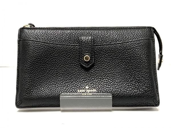 Kate spade(ケイトスペード) 財布 WKRU3237 黒 ショルダーウォレット レザー