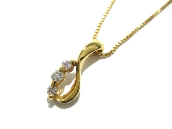STAR JEWELRY(スタージュエリー) ネックレス美品  K18YG×ダイヤモンド 3Pダイヤ