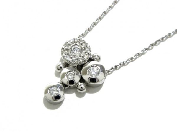 STAR JEWELRY(スタージュエリー) ネックレス美品  K18WG×ダイヤモンド