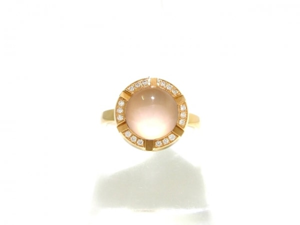 CHAUMET(ショーメ) リング 53美品  K18PG×ダイヤモンド×ピンククオーツ 総重量5.5g